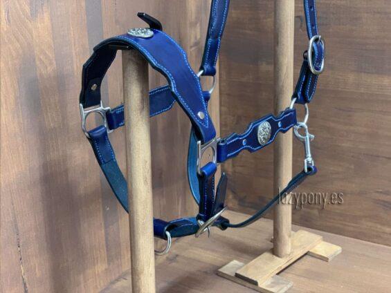 Blue baroque horse halter