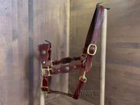 Brown baroque horse halter