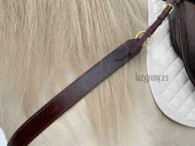 Brown western breastplate