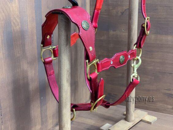 Red baroque horse halter