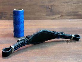 Black anatomic hackamore noseband