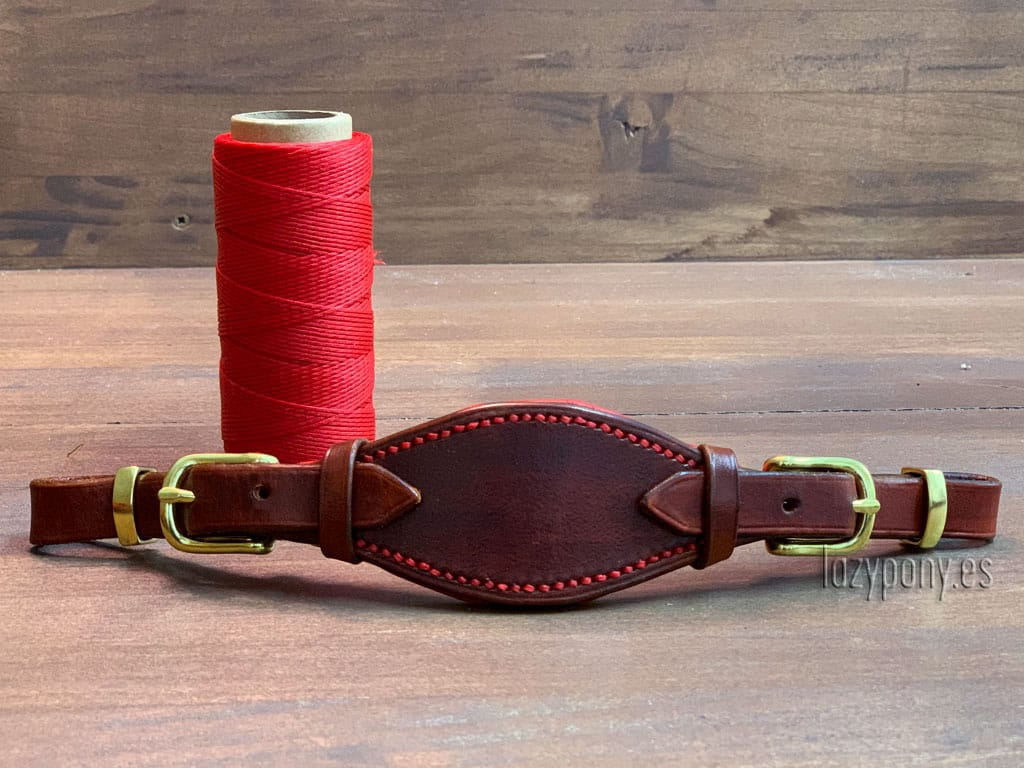 Brown anatomic hackamore noseband