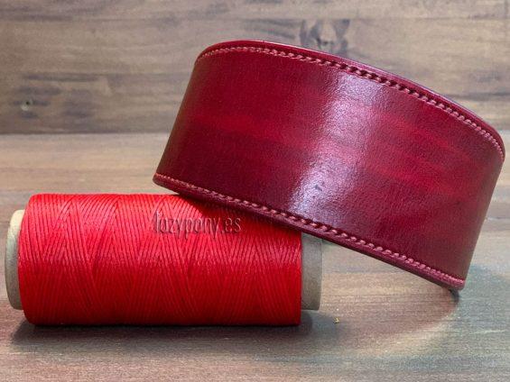 Red hound dog collar
