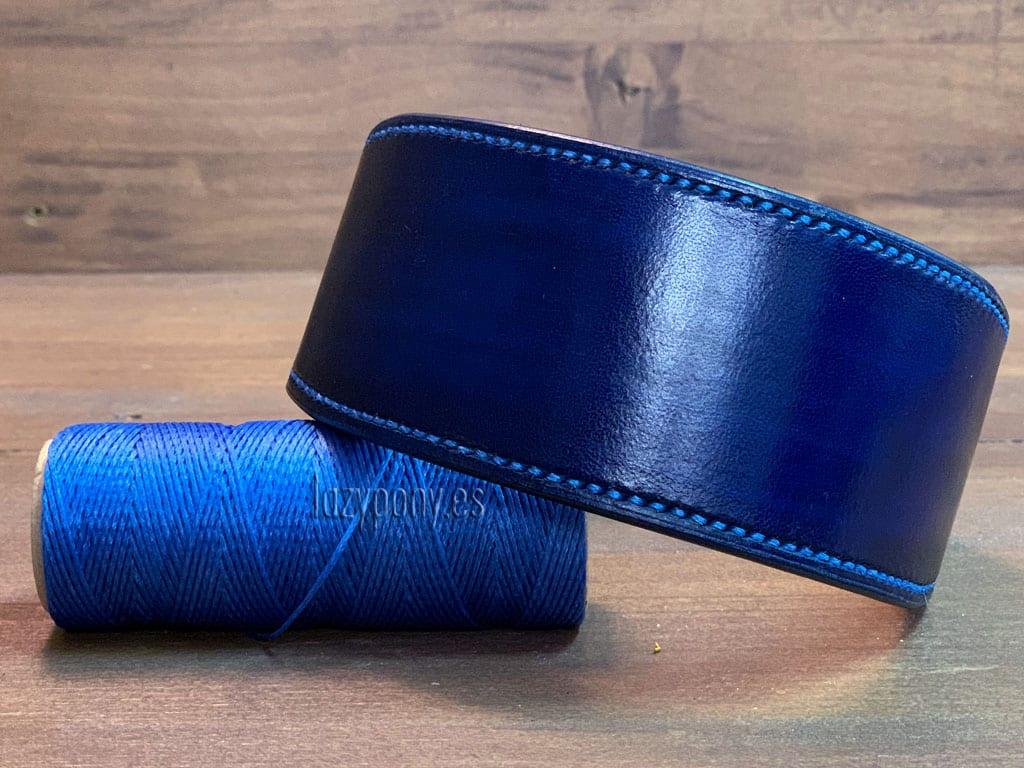 Blue hound dog collar