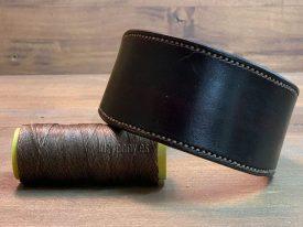 Brown hound dog collar