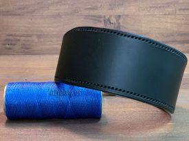 Black hound dog collar