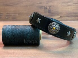 Black Martingale Collar with conchos