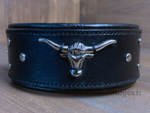 wide dog leather collar